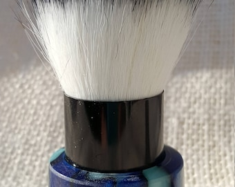 Luxury series Blue Steel Acrylic Makeup Powder Brush KB5