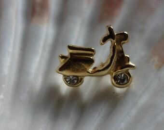 Scooter, moped, motorbike, brooch, pin, Vintageschmuck, pins, Vintagebrosche, pin, butterfly pin
