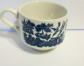 Blue Willow Churchill England Tea Cup Mug Coffee Cup Set of 4  bxIND    82487956