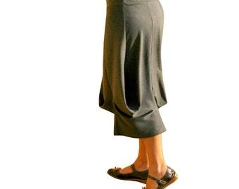 Long skirt, Drape skirt, Custom skirt, plus size skirt, Maternity skirt, Womens skirt, Winter skirt, Grey skirt, Gray skirt, Made to order