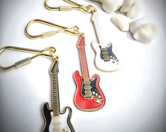 Fender Stratocaster Guitar Keychain/Keyring - Choice of Colour