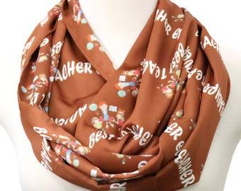Teacher scarf Teacher gift handmade gift for teachers appreciation gifts infinity scarf back to school gifts for teacher mug gift for her