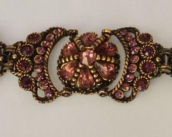 Vintage Bracelet Rhinestone Crown