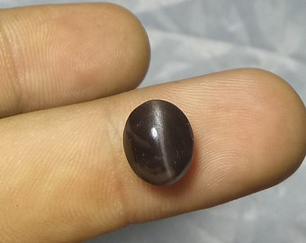 4.80 Ct Natural Brown Cats-eyes Scapolite Shape Oval Cabochon 9x11 Mm Fine Chatoyancy_211