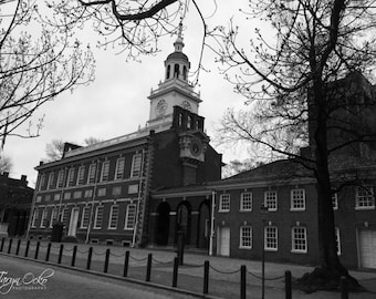 Philadelphia Independence Hall Black & White Photography Print