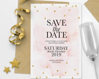 Modern Save The Date Postcard Elegant Save The Date Printable Save The Date Cards Printable - #23-11