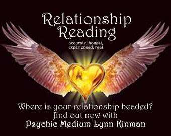 Psychic Reading Love Relationship Reading Lynn Kinman Psychic Medium Past Life Reading Spirit Guide Reading 3 Question Reading Low Cost