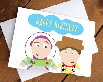 Buzz & Woody Card // disney, pixar, friendship, happy birthday, anniversary, valentines day, celebration, friends, love