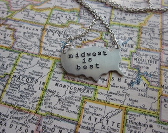 The Wilma Necklace - Midwest Love Pendant Necklace or Key Chain