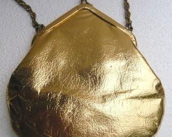 Vintage Gold Lamé Evening Bag