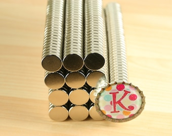 50 Super Strong 1/8 inch thick X 1/2 inch /Neodymium Rare Earth Magnets-perfect for bottle caps and scrabble tiles. 1/2 inch x 1/8 inch