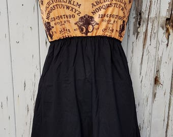 Ouija Board Dress - Size 10 12 14 - Skater Rockabilly Goth Occult Halloween