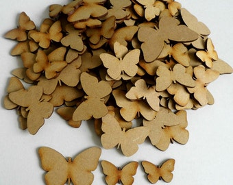 Assorted MDF Butterfly shapes - Lot of 50 - embellishment, unpainted