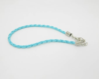 Blue 20cm x 1 (l586) braided leather bracelet