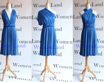 Blue Knee Wedding Dress