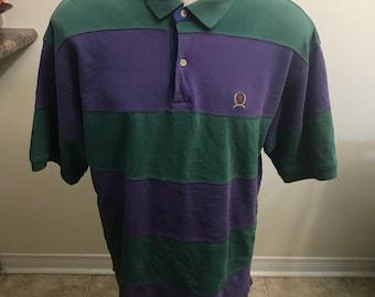 Vintage Tommy Hilfiger color block polo shirt size xl