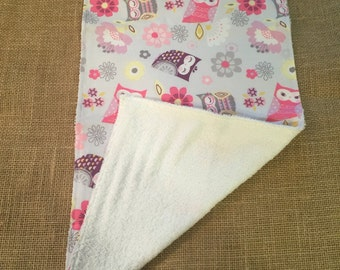 Owly Burp Cloth