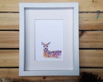 Baby deer // Watercolor Print