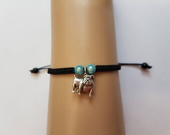 Pug bracelet - pug charm - pug jewelry - pug jewellery - dog jewelry - pug dog - dog lover - pug lover - pug gift - national pet day