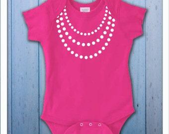 Girly Baby Pearls Bodysuit