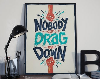 No Body Can Drag Me Down Poster, One Direction, Harry Styles Print, Harry Styles Gift, Sign Of The Times, 1D, Another man