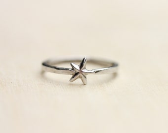 Silver Star Ring - Size 3.25