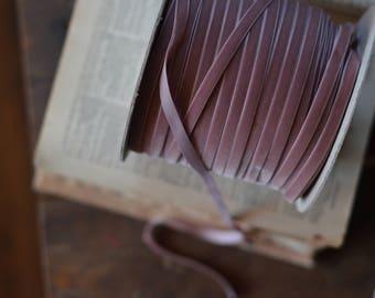 "dusty mauve 3/8"" velvet ribbon"