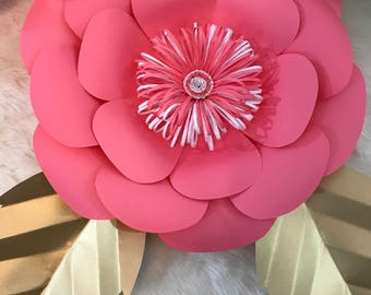 HARD COPY Template 2 Large Paper Flower