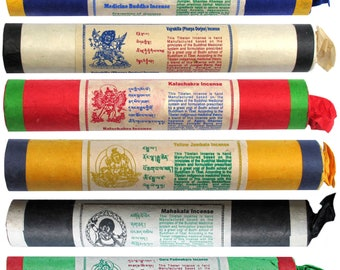 Tibetan Diety Large Incense Stick Recycle Lokta Paper Pack,