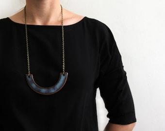 Barchan Necklace - Floating Blue Ceramic