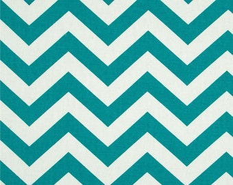 True Turquoise and White Home Dec Fabric - One Yard - Premier Prints Fabric