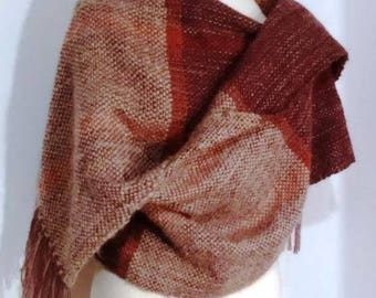 Hand Loomed Scarf and Wraps Wool