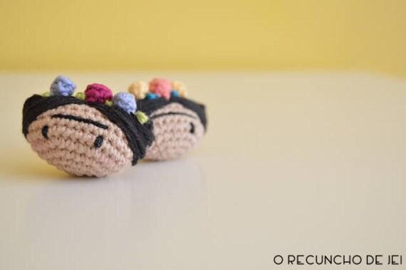 Amigurumis Frida Kahlo : Frida kahlo brooch crochet brooch brooch amigurumi frida