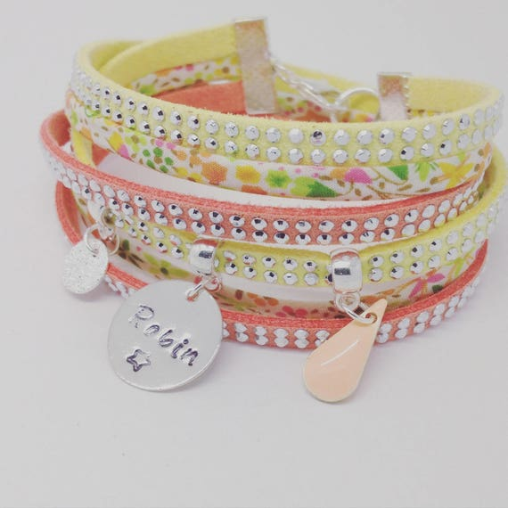 Personalized Bracelet with personalized engraving by Palilo SPRING multi strand