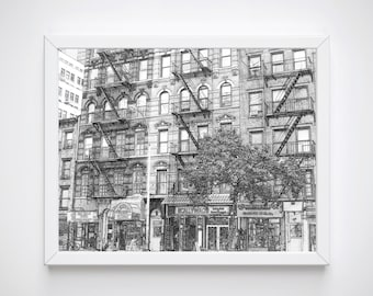 New York Print, New York Wall Print, New York Print, New York Drawing, New York Skyline, New York Poster,  Artwork
