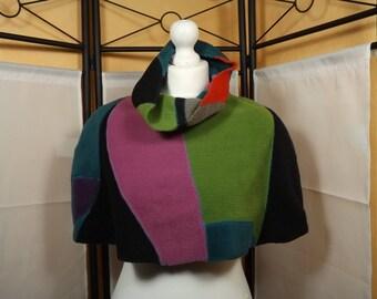 Cape fairy patchwork heater shoulder unique fleece cape