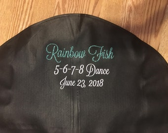 Personalized Garment Bag for Dance Costumes