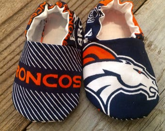 Broncos baby booties, denver broncos baby shoes, broncos baby  shoes