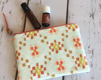 Clearance Ready to ship New Essential Oil Bag, Roller bottle or 5ml bag, Boho (holds 6-8)