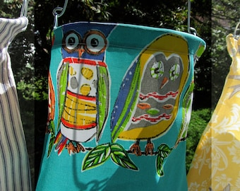 Turquoise with Owls