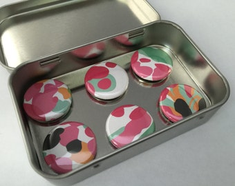Pink Abstract Magnet Set