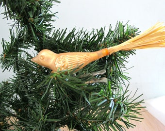 Set of Three Vintage Gold Birds Tree Ornaments NOS in Package