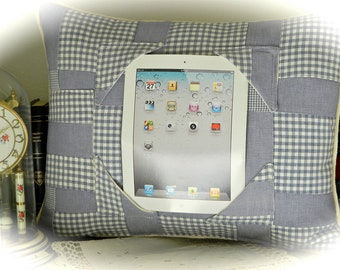 Patchwork Crazy Quilted iPad Tablet  Pillow Stand