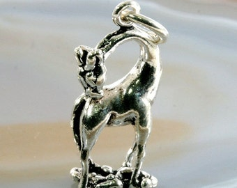 Giraffe,pendant silver - 4014