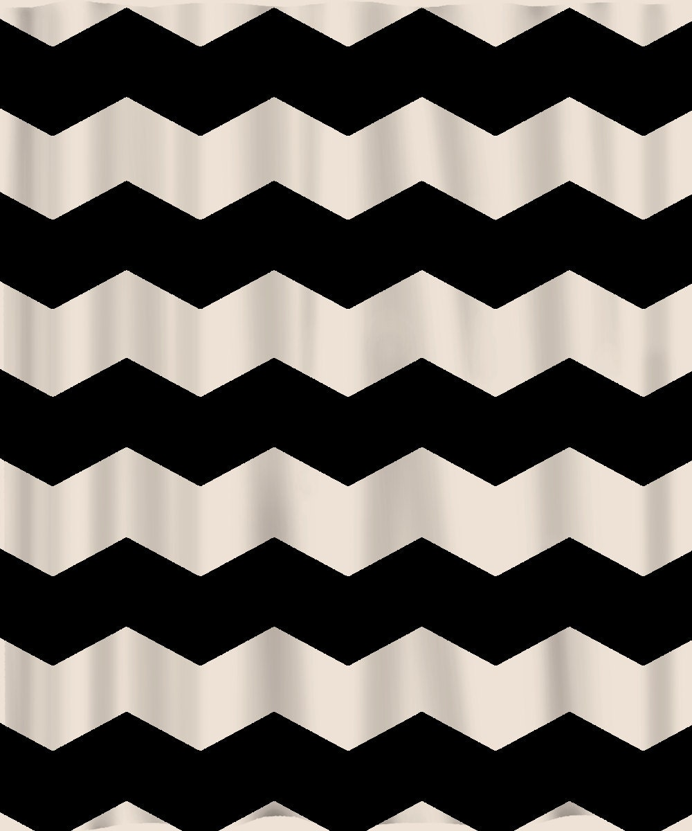 Zoom Custom Chevron Shower Curtain Extra Wide 6 Inch Stripes.