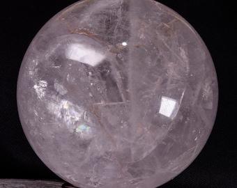 9 «rare Extra Large meilleur arc en ciel clair naturel Quartz sphère/blanc cristal clair Quartz boule/Fortune Teller Quartz boule - 230mm 14,98 kg