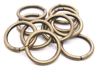 """Ring Smooth Antique Brass 10 Pack 7/8"""" (2.2 cm) 1825-09"""
