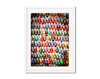 Photographie Fine Art - Babouches colorées - Maroc