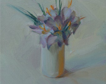 Still life with Crocuses