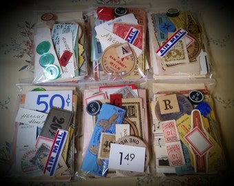 "Vintage Ephemera Pack The 3 x 4"" Vegas Buffet 50 Piece"